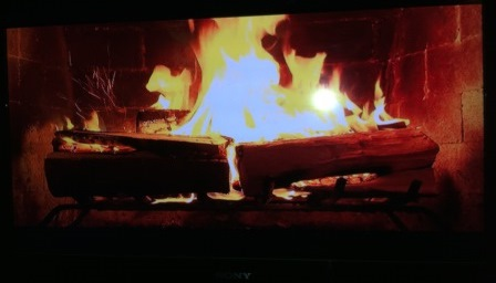 tv fireplace photo - REFLIP